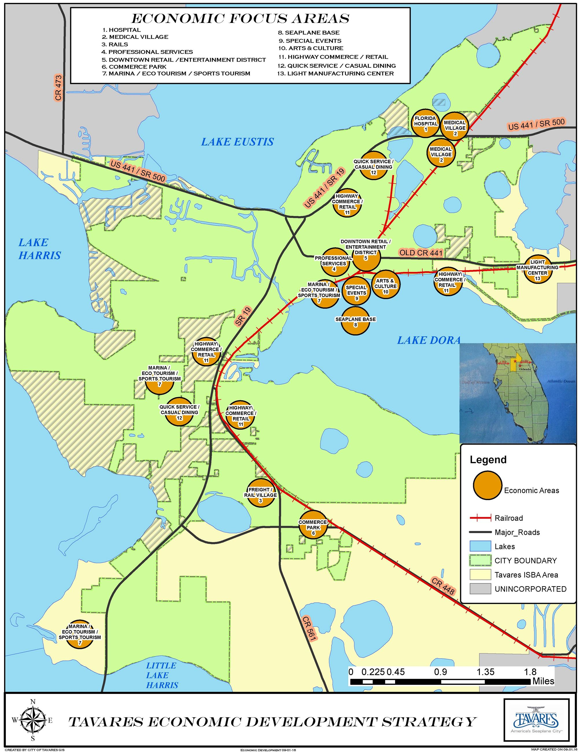 Tavares Florida Map.Economic Development Strategy Map Tavares Fl Official Website