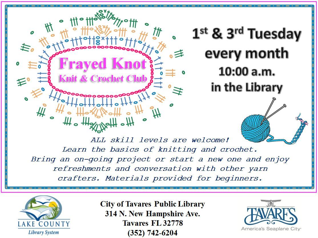 Library Knit and Crochet Club