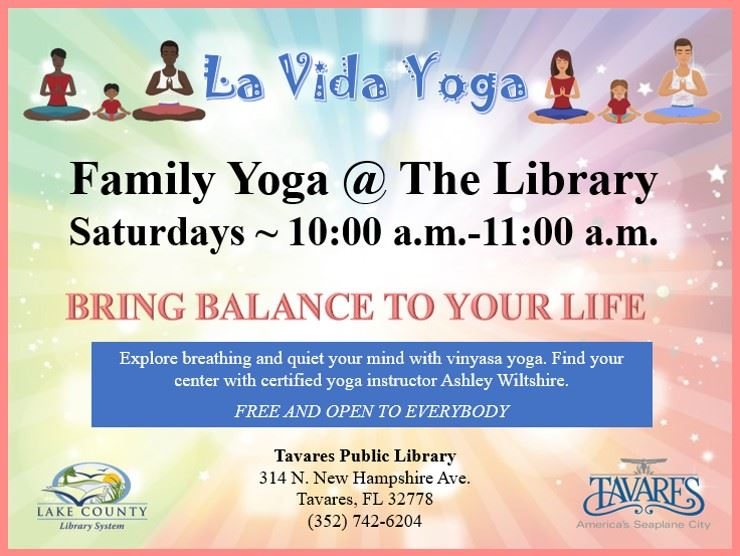 Image of La Vida Yoga Family Yoga Flyer