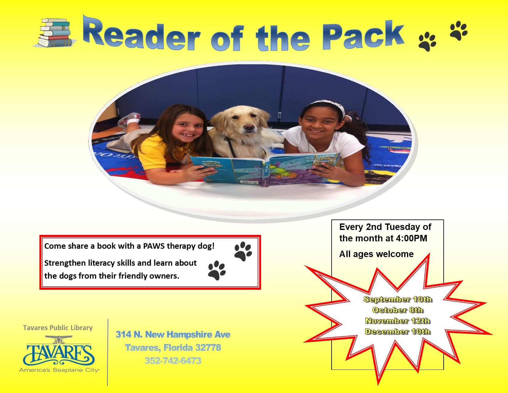 Image of Paws Therapy Dogs Flyer