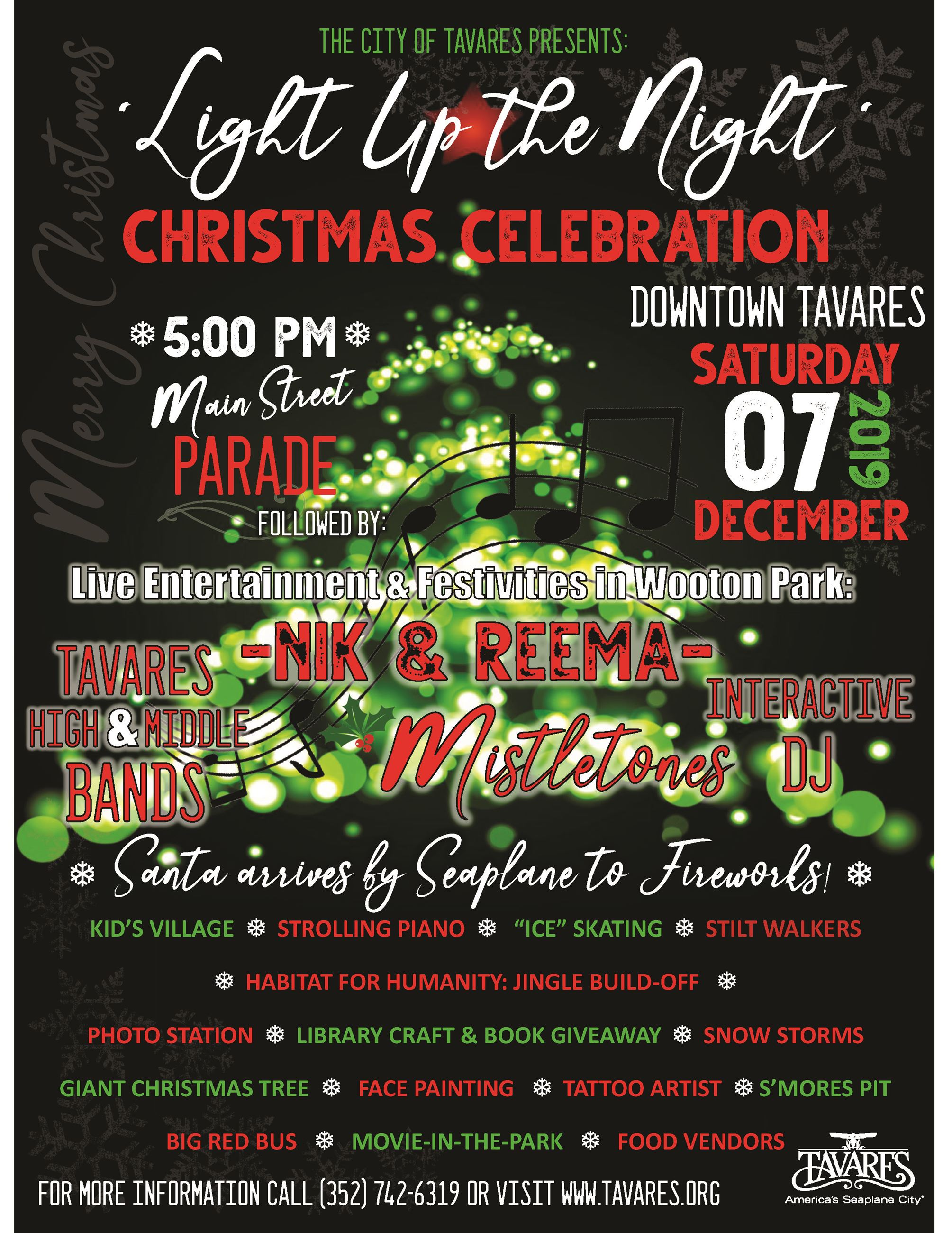 Image of Main City Christmas 2019 flyer