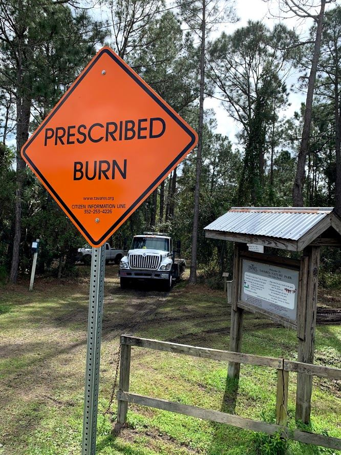 Image of Prescribed Burn Sign