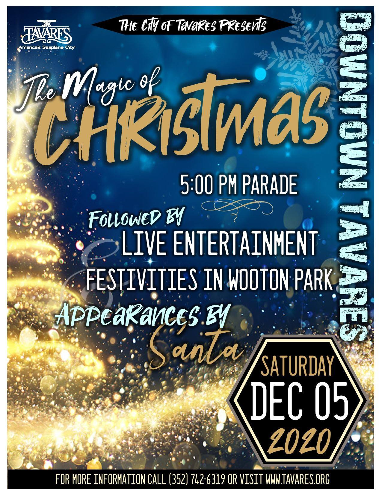 Image of Christmas Parade poster 2020