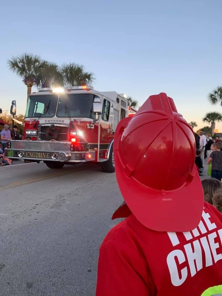 Christmas Parade Fire Engine