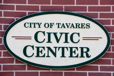 Tavares Civic Center sign