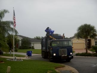 Rick handles trash pickup at Royal Harbor subdivision