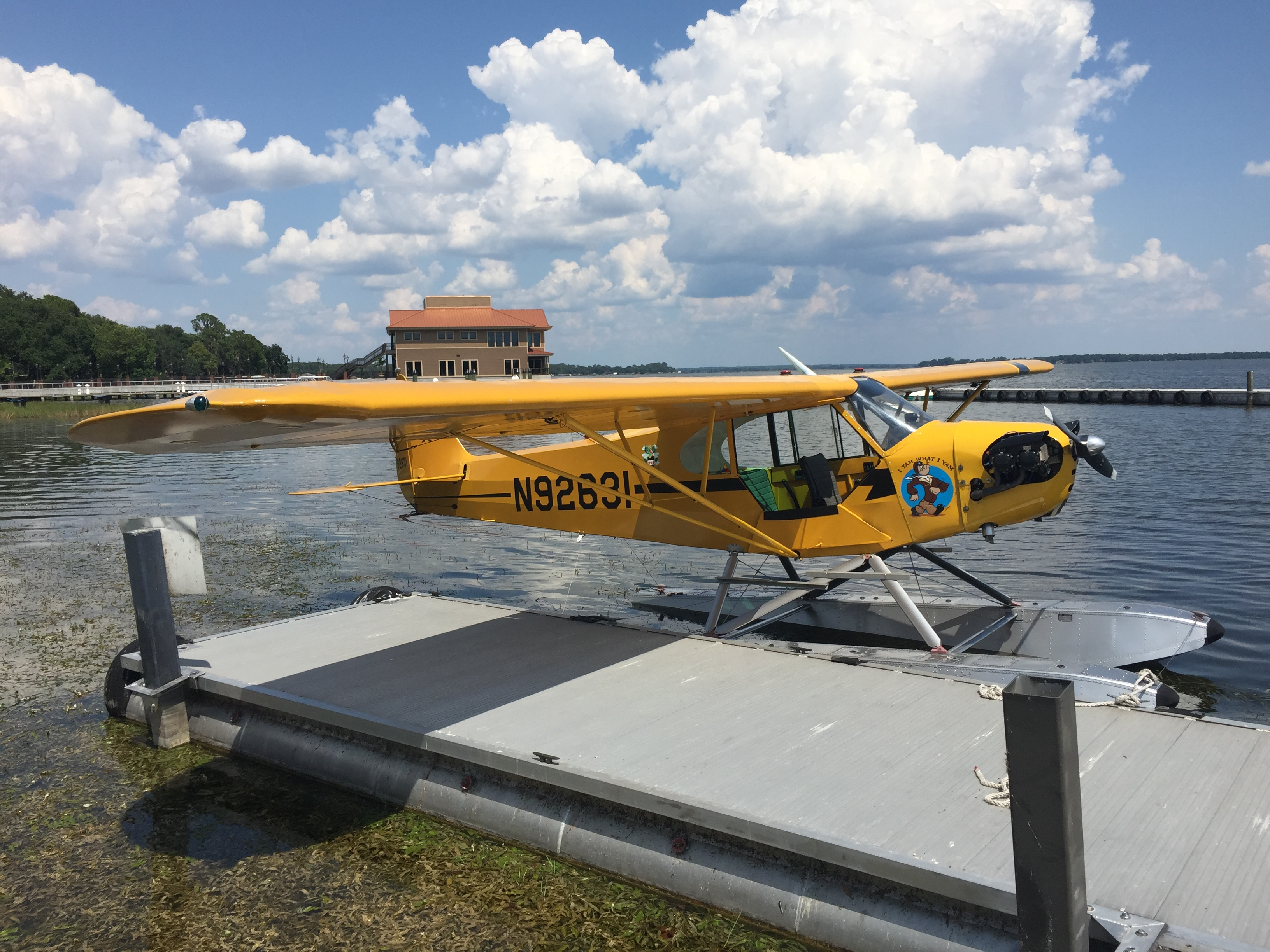 Flying Club Cub on dock.JPG